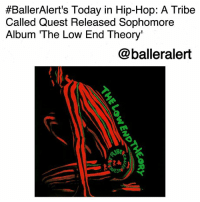 """BallerAlert's Today in Hip-Hop: A Tribe Called Quest Released Sophomore Album 'The Low End Theory'-blogged by @thereal__bee ⠀⠀⠀⠀⠀⠀⠀⠀⠀ ⠀⠀ 26 years ago today, the famous rap group ATribeCalledQuest released their sophomore album 'The Low End Theory'. ⠀⠀⠀⠀⠀⠀⠀⠀⠀ ⠀⠀ After a highly successful first album, there were many questions about ATCQ's concerns about the 'Sophomore Jinx', but for group members QTip, PhifeDawg, AliShaheedMuhammad, and JarobiWhite, they knew this album would catapult their careers to newer heights and ensure their spot in hip-hop history for years to come. ⠀⠀⠀⠀⠀⠀⠀⠀⠀ ⠀⠀ With the debut single """"Check the Rhime"""", the group was already off to a great start for the release of the album. In 2008, VH1 ranked the song No. 29 on their 100 Greatest Songs of Hip-Hop list. ⠀⠀⠀⠀⠀⠀⠀⠀⠀ ⠀⠀ To this day, the album remains critically acclaimed for its ability to combine the world of jazz and hip-hop on songs like """"Verses from the Abstract"""" featuring legendary double bassist RonCarter. It even has received the iconic five mics from TheSource and was ranked number 154 on RollingStone's list for """"The 500 Greatest Albums of All Time"""". ⠀⠀⠀⠀⠀⠀⠀⠀⠀ ⠀⠀ What was your favorite song from the album?:  #BallerAlert's Today in Hip-Hop: A Tribe  Called Quest Released Sophomore  Album The Low End Theory'  @balleralert  AIBS BallerAlert's Today in Hip-Hop: A Tribe Called Quest Released Sophomore Album 'The Low End Theory'-blogged by @thereal__bee ⠀⠀⠀⠀⠀⠀⠀⠀⠀ ⠀⠀ 26 years ago today, the famous rap group ATribeCalledQuest released their sophomore album 'The Low End Theory'. ⠀⠀⠀⠀⠀⠀⠀⠀⠀ ⠀⠀ After a highly successful first album, there were many questions about ATCQ's concerns about the 'Sophomore Jinx', but for group members QTip, PhifeDawg, AliShaheedMuhammad, and JarobiWhite, they knew this album would catapult their careers to newer heights and ensure their spot in hip-hop history for years to come. ⠀⠀⠀⠀⠀⠀⠀⠀⠀ ⠀⠀ With the debut single """"Check the Rhime"""", the group was already off to a great sta"""