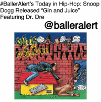 """BallerAlert's Today in Hip-Hop: Snoop Dogg Released """"Gin and Juice"""" Featuring Dr. Dre -blogged by @thereal__bee ⠀⠀⠀⠀⠀⠀⠀ ⠀⠀⠀⠀ On Jan. 15, 1994, SnoopDogg released the second single from his debut album 'Doggystyle', """"Gin and Juice"""". ⠀⠀⠀⠀⠀⠀⠀ ⠀⠀⠀⠀ Produced by and featuring DrDre, the single is a true hip-hop classic. To this day, it remains one of the most popular songs of the era, especially as one of the first tracks to introduce us to the West Coast g-Funk style that we now love. ⠀⠀⠀⠀⠀⠀⠀ ⠀⠀⠀⠀ To no surprise, the song was a major success. It peaked at 8 on the Billboard Hot 100. ⠀⠀⠀⠀⠀⠀⠀ ⠀⠀⠀⠀ The single received a gold certification from the RIAA and has sold over 700,000 copies. It also was nominated for a Grammy Award in 1995 for Best Rap Solo Performance. ⠀⠀⠀⠀⠀⠀⠀ ⠀⠀⠀⠀ In addition to the awards, the song also received an accolade from VH1, ranking number eight on their 100 Greatest Songs of Hip Hop list.:  #BallerAlert's Today in Hip-Hop: Snoop  Dogg Released """"Gin and Juice""""  Featuring Dr. Dre  05  @balleralert BallerAlert's Today in Hip-Hop: Snoop Dogg Released """"Gin and Juice"""" Featuring Dr. Dre -blogged by @thereal__bee ⠀⠀⠀⠀⠀⠀⠀ ⠀⠀⠀⠀ On Jan. 15, 1994, SnoopDogg released the second single from his debut album 'Doggystyle', """"Gin and Juice"""". ⠀⠀⠀⠀⠀⠀⠀ ⠀⠀⠀⠀ Produced by and featuring DrDre, the single is a true hip-hop classic. To this day, it remains one of the most popular songs of the era, especially as one of the first tracks to introduce us to the West Coast g-Funk style that we now love. ⠀⠀⠀⠀⠀⠀⠀ ⠀⠀⠀⠀ To no surprise, the song was a major success. It peaked at 8 on the Billboard Hot 100. ⠀⠀⠀⠀⠀⠀⠀ ⠀⠀⠀⠀ The single received a gold certification from the RIAA and has sold over 700,000 copies. It also was nominated for a Grammy Award in 1995 for Best Rap Solo Performance. ⠀⠀⠀⠀⠀⠀⠀ ⠀⠀⠀⠀ In addition to the awards, the song also received an accolade from VH1, ranking number eight on their 100 Greatest Songs of Hip Hop list."""