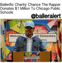 """Memes, 🤖, and Act: Ballerific Charity: Chance The Rapper  Donates $1 Million To Chicago Public  Schools  oballeralert  Welcom  ott Elementary  Ons  Welcome to Westcott Elementary  School of Champions BallerificCharity: Chance The Rapper Donates $1 Million To Chicago Public Schools - blogged by: @eleven8 ⠀⠀⠀⠀⠀⠀⠀⠀⠀ ⠀⠀⠀⠀⠀⠀⠀⠀⠀ Dissatisfied with last week's meeting with the governor of Illinois, ChanceTheRapper is determined to repair the school system in his hometown of Chicago. ⠀⠀⠀⠀⠀⠀⠀⠀⠀ ⠀⠀⠀⠀⠀⠀⠀⠀⠀ The Grammy Award-winning rapper held a press conference at Westcott Elementary School in Chicago on Monday, to discuss last week's meeting with Governor BruceRauner. ⠀⠀⠀⠀⠀⠀⠀⠀⠀ ⠀⠀⠀⠀⠀⠀⠀⠀⠀ """"The governor gave me a lot of vague answers in our meeting,"""" he said during the live stream. """"Our talks were unsuccessful. Governor Rauner still won't commit to giving Chicago's kids a chance without caveats or ultimatums."""" ⠀⠀⠀⠀⠀⠀⠀⠀⠀ ⠀⠀⠀⠀⠀⠀⠀⠀⠀ """"Our kids should not be held hostage because of political positions,"""" Chance continued. """"If the governor does not act, ChicagoPublicSchools will be forced to end school 13 days early. That means over 380,000 kids will not have adult supervised activities in June and could possibly be put in harm's way."""" ⠀⠀⠀⠀⠀⠀⠀⠀⠀ ⠀⠀⠀⠀⠀⠀⠀⠀⠀ During his press conference, Chance said that though he was frustrated with the governor's inaction, he will still do all that he can for the children of his hometown. He then announced that he would be giving $1 Million to Chicago Public Schools. ⠀⠀⠀⠀⠀⠀⠀⠀⠀ ⠀⠀⠀⠀⠀⠀⠀⠀⠀ """"Today, I'm proud to announce that I am donating $1 million to CPS to support arts and enrichment programs. I'm excited to share that this donation was made possible by my fans. Through ticket sales from my upcoming tour and an unprecedented coordination from Live Nation, AEG, Ticketmaster, and independent promoters, we were able to band together to use funds from ticket sales to donate to CPS. I'm honored to make this contribution and help to cultivate Chicago's creative"""