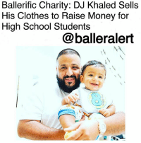 """BallerificCharity: DJ Khaled Sells His Clothes to Raise Money for High School Students-blogged by @thereal__bee ⠀⠀⠀⠀⠀⠀⠀ ⠀⠀⠀⠀⠀⠀⠀ Hit maker DJKhaled is giving back to high school students in a major way by selling pieces of his clothing on the website Poshmark. ⠀⠀⠀⠀⠀⠀⠀ ⠀⠀⠀⠀⠀⠀⠀ According to the HollywoodReporter, Khaled is selling pieces from his personal closet and donating a portion of the proceeds to his """"Win More Music"""" campaign in collaboration with Get Schooled, a non-profit organization that encourages students to get a high school diploma. ⠀⠀⠀⠀⠀⠀⠀ ⠀⠀⠀⠀⠀⠀⠀ On Tuesday, Khaled posted 28 pieces on Poshmark, including the matching father-son blue sateen suits which the rapper and his 8-month-old son, Asahd, wore on his Grateful album cover. Khaled's suit is priced at $2,250, while Asahd's is going for $1,350. So far, many of the pieces have already sold out. ⠀⠀⠀⠀⠀⠀⠀ ⠀⠀⠀⠀⠀⠀⠀ Khaled is one of few celebrities who has offered to sell their personal items for charity. Earlier this week LenaDunham announced that she too was selling more than 169 pieces in efforts to raise funds for PlannedParenthood. ballerificcharity: Ballerific Charity: DJ Khaled Sells  His Clothes to Raise Money for  High School Students  @balleralert BallerificCharity: DJ Khaled Sells His Clothes to Raise Money for High School Students-blogged by @thereal__bee ⠀⠀⠀⠀⠀⠀⠀ ⠀⠀⠀⠀⠀⠀⠀ Hit maker DJKhaled is giving back to high school students in a major way by selling pieces of his clothing on the website Poshmark. ⠀⠀⠀⠀⠀⠀⠀ ⠀⠀⠀⠀⠀⠀⠀ According to the HollywoodReporter, Khaled is selling pieces from his personal closet and donating a portion of the proceeds to his """"Win More Music"""" campaign in collaboration with Get Schooled, a non-profit organization that encourages students to get a high school diploma. ⠀⠀⠀⠀⠀⠀⠀ ⠀⠀⠀⠀⠀⠀⠀ On Tuesday, Khaled posted 28 pieces on Poshmark, including the matching father-son blue sateen suits which the rapper and his 8-month-old son, Asahd, wore on his Grateful album cover. Khaled's suit """