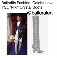 "Definitely, Fashion, and Love: Ballerific Fashion: Celebs Love  YSL ""Niki"" Crystal Boots  @balleralert Ballerific Fashion: Celebs Love YSL ""Niki"" Crystal Boots -blogged by @peachkyss (swipe) ⠀⠀⠀⠀⠀⠀⠀ ⠀⠀⠀⠀⠀⠀⠀ One thing about designer pieces, when celebs see something they love, you can definitely expect to see them rocking them. Although the celebs may be rocking the same piece, no one is wearing them the same. ⠀⠀⠀⠀⠀⠀⠀ ⠀⠀⠀⠀⠀⠀⠀ Back in March, Rihanna was spotted wearing YSL's ""Niki"" Crystal Boots just days after being showcased on the runway. The badgal accessorized her look with denim distressed jeans, a tee, and leather jacket. ⠀⠀⠀⠀⠀⠀⠀ ⠀⠀⠀⠀⠀⠀⠀ CardiB attended the 2017 MTV Music Awards wearing the crystal boots with AngelBrinks crystal ensemble for a glamorous feel of the evening. ⠀⠀⠀⠀⠀⠀⠀ ⠀⠀⠀⠀⠀⠀⠀ BlacChyna showed off her pair while in Atlanta last night looking absolutely fabulous. The boots were styled with Dare to be Vintage by ShaneJustin custom silk robe. ⠀⠀⠀⠀⠀⠀⠀ ⠀⠀⠀⠀⠀⠀⠀ Each of the ladies added their own swag to the $10K YSL boots. Love how the looks transition from day to night. ⠀⠀⠀⠀⠀⠀⠀ ⠀⠀⠀⠀⠀⠀⠀ Whose look are you feeling more? BallerificFashion"
