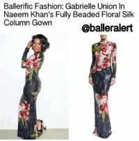 Ballerific Fashion: Gabrielle Union In Naeem Khan's Fully Beaded Floral Silk Column Gown - blogged by: @eleven8 ⠀⠀⠀⠀⠀⠀⠀⠀⠀ ⠀⠀⠀⠀⠀⠀⠀⠀⠀ GabrielleUnion can wear just about anything and make it look good. Earlier today she posted a photo in a NaeemKhan gown looking absolutely stunning. ⠀⠀⠀⠀⠀⠀⠀⠀⠀ ⠀⠀⠀⠀⠀⠀⠀⠀⠀ The navy blue, silk, fully beaded, Naeem Khan gown retails for $11,995. It features a floral pattern, jewel neckline long sleeves, and a straight hem with back slit. The works of this Indian-born designer often feature handcrafted fabrics and decorations, and there is an inherent, yet subtle, femininity. Often seen on the red carpet of high-profile awards shows, Naeem Khan dresses possess heirloom quality. ⠀⠀⠀⠀⠀⠀⠀⠀⠀ ⠀⠀⠀⠀⠀⠀⠀⠀⠀ Are you feeling Gabby's gown? ballerificfashion: Ballerific Fashion: Gabrielle Union In  Naeem Khan's Fully Beaded Floral Silk  Column Gown  @balleralert Ballerific Fashion: Gabrielle Union In Naeem Khan's Fully Beaded Floral Silk Column Gown - blogged by: @eleven8 ⠀⠀⠀⠀⠀⠀⠀⠀⠀ ⠀⠀⠀⠀⠀⠀⠀⠀⠀ GabrielleUnion can wear just about anything and make it look good. Earlier today she posted a photo in a NaeemKhan gown looking absolutely stunning. ⠀⠀⠀⠀⠀⠀⠀⠀⠀ ⠀⠀⠀⠀⠀⠀⠀⠀⠀ The navy blue, silk, fully beaded, Naeem Khan gown retails for $11,995. It features a floral pattern, jewel neckline long sleeves, and a straight hem with back slit. The works of this Indian-born designer often feature handcrafted fabrics and decorations, and there is an inherent, yet subtle, femininity. Often seen on the red carpet of high-profile awards shows, Naeem Khan dresses possess heirloom quality. ⠀⠀⠀⠀⠀⠀⠀⠀⠀ ⠀⠀⠀⠀⠀⠀⠀⠀⠀ Are you feeling Gabby's gown? ballerificfashion