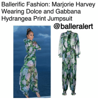 Beautiful, Fashion, and Memes: Ballerific Fashion: Marjorie Harvey  Wearing Dolce and Gabbana  Hydrangea Print Jumpsuit  @balleralert BallerificFashion: Marjorie Harvey Wearing Dolce and Gabbana Hydrangea Print Jumpsuit - blogged by- @peachkyss ⠀⠀⠀⠀⠀⠀⠀ ⠀⠀⠀⠀⠀⠀⠀ MarjorieHarvey knows how to keep it classy when it comes to her style. Every piece compliments her shape and she looks amazing in them. She does not play any games when it comes to fashion and this is why we look forward to seeing what she wears next. ⠀⠀⠀⠀⠀⠀⠀ ⠀⠀⠀⠀⠀⠀⠀ The Fashionista posted a beautiful picture with an ocean scenery wearing Dolce and Gabbana's $2,395 Hydrangea Print Jumpsuit. ⠀⠀⠀⠀⠀⠀⠀ ⠀⠀⠀⠀⠀⠀⠀ The multicolored silk hydrangea print jumpsuit from Dolce & Gabbana features a pussy bow fastening, long wide sleeves, a sheer construction, an elasticated waistband, a wide leg and gathered ankles. ⠀⠀⠀⠀⠀⠀⠀ ⠀⠀⠀⠀⠀⠀⠀ Thoughts on Marjorie's look? BallerificFashion