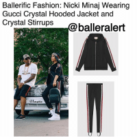 Ballerific Fashion: Nicki Minaj Wearing Gucci Crystal Hooded Jacket and Crystal Stirrups -blogged by @peachkyss ⠀⠀⠀⠀⠀⠀⠀ ⠀⠀⠀⠀⠀⠀⠀ Nicki Minaj posed alongside bae, Nas, with his 1988 'Illmatic' 190E Benz. After all the gowns and furs from New York Fashion Week, Nicki went for a more athletic look for the evening. ⠀⠀⠀⠀⠀⠀⠀ ⠀⠀⠀⠀⠀⠀⠀ Minaj was spotted wearing Gucci's $2,500 crystal hooded jacket paired with the matching $2,100 stirrups. ⠀⠀⠀⠀⠀⠀⠀ ⠀⠀⠀⠀⠀⠀⠀ The romantic undertones of the crystal embroidery adds an unexpected layer to the activewear collection. The technical jersey hooded jacket is reminiscent of retro tracksuits with bold stripes down the sleeves and stripes down the side of the stirrups. ⠀⠀⠀⠀⠀⠀⠀ ⠀⠀⠀⠀⠀⠀⠀ Are you feeling the casual side of Nicki Minaj? BallerificFashion: Ballerific Fashion: Nicki Minaj Wearing  Gucci Crystal Hooded Jacket and  Crystal Stirrups  balleralert  illmatic Ballerific Fashion: Nicki Minaj Wearing Gucci Crystal Hooded Jacket and Crystal Stirrups -blogged by @peachkyss ⠀⠀⠀⠀⠀⠀⠀ ⠀⠀⠀⠀⠀⠀⠀ Nicki Minaj posed alongside bae, Nas, with his 1988 'Illmatic' 190E Benz. After all the gowns and furs from New York Fashion Week, Nicki went for a more athletic look for the evening. ⠀⠀⠀⠀⠀⠀⠀ ⠀⠀⠀⠀⠀⠀⠀ Minaj was spotted wearing Gucci's $2,500 crystal hooded jacket paired with the matching $2,100 stirrups. ⠀⠀⠀⠀⠀⠀⠀ ⠀⠀⠀⠀⠀⠀⠀ The romantic undertones of the crystal embroidery adds an unexpected layer to the activewear collection. The technical jersey hooded jacket is reminiscent of retro tracksuits with bold stripes down the sleeves and stripes down the side of the stirrups. ⠀⠀⠀⠀⠀⠀⠀ ⠀⠀⠀⠀⠀⠀⠀ Are you feeling the casual side of Nicki Minaj? BallerificFashion