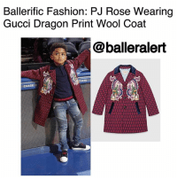 Ballerific Fashion: PJRose Wearing Gucci Dragon Print Wool Coat -blogged by- @peachkyss ⠀⠀⠀⠀⠀⠀⠀⠀⠀ ⠀⠀⠀⠀⠀⠀⠀⠀⠀ Our favorite little BallerBaby, PJ Rose, knows how to keep it fashionable like his daddy DerrickRose. PJ was spotted court side looking absolutely adorable while wearing a Gucci Dragon Print Wool Coat, Balmain jeans, Gucci polo shirt, and Gucci sneakers. I absolutely adore the coat, especially the plaid and print details. ⠀⠀⠀⠀⠀⠀⠀⠀⠀ ⠀⠀⠀⠀⠀⠀⠀⠀⠀ The $1,170 wool coat features navy blue flaps on the coat, brass buttons, and dragon design on each side of the coat. ⠀⠀⠀⠀⠀⠀⠀⠀⠀ ⠀⠀⠀⠀⠀⠀⠀⠀⠀ Looks like mommy and daddy have a little heartbreaker on their hands. He is so cute and I'm loving his style. Keep it coming PJ! BallerificFashion: Ballerific Fashion: PJ Rose Wearing  Gucci Dragon Print Wool Coat  @balleralert  SEE Ballerific Fashion: PJRose Wearing Gucci Dragon Print Wool Coat -blogged by- @peachkyss ⠀⠀⠀⠀⠀⠀⠀⠀⠀ ⠀⠀⠀⠀⠀⠀⠀⠀⠀ Our favorite little BallerBaby, PJ Rose, knows how to keep it fashionable like his daddy DerrickRose. PJ was spotted court side looking absolutely adorable while wearing a Gucci Dragon Print Wool Coat, Balmain jeans, Gucci polo shirt, and Gucci sneakers. I absolutely adore the coat, especially the plaid and print details. ⠀⠀⠀⠀⠀⠀⠀⠀⠀ ⠀⠀⠀⠀⠀⠀⠀⠀⠀ The $1,170 wool coat features navy blue flaps on the coat, brass buttons, and dragon design on each side of the coat. ⠀⠀⠀⠀⠀⠀⠀⠀⠀ ⠀⠀⠀⠀⠀⠀⠀⠀⠀ Looks like mommy and daddy have a little heartbreaker on their hands. He is so cute and I'm loving his style. Keep it coming PJ! BallerificFashion