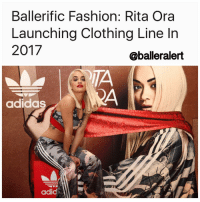 "BallerificFashion: RitaOra Launching Clothing Line In 2017 -blogged by @peachkyss - Rita Ora is definitely having a great year in the fashion world. She has been hitting the red carpets in some of the hottest pieces from our favorite designers. Earlier this summer, it was announced that Ora would be the newest host of the hit show America's Next Top Model. The songstress and ANTM host has also partnered with Adidas for the last three years. Now that the partnership has ended, she is in the process of starting her own clothing line for 2017. The Adidas partnership has opened many doors for Rita as well as the expansion of her brand. She has been working on the clothing line for a couple of years and wants to ensure that everything is in place for the big debut. Rita Ora tells WWD, ""I've done so much for this brand, and we've done so much together, that we couldn't just leave it like that. It's the end of my designing journey with Adidas as a brand, but it's the beginning of something else, the beginning of our new relationship. I've been working with Adidas for three years, and I have learned a lot about them and about branding. The collaboration has led me to great ventures coming in the New Year."" Since Rita is still working on the line, we can probably expect it to drop some time next Fall. Are you looking forward to Rita Ora's new clothing line?: Ballerific Fashion: Rita Ora  Launching Clothing Line In  2017  @balleralert  adidas  adid BallerificFashion: RitaOra Launching Clothing Line In 2017 -blogged by @peachkyss - Rita Ora is definitely having a great year in the fashion world. She has been hitting the red carpets in some of the hottest pieces from our favorite designers. Earlier this summer, it was announced that Ora would be the newest host of the hit show America's Next Top Model. The songstress and ANTM host has also partnered with Adidas for the last three years. Now that the partnership has ended, she is in the process of starting her own clothing line for 2017. The Adidas partnership has opened many doors for Rita as well as the expansion of her brand. She has been working on the clothing line for a couple of years and wants to ensure that everything is in place for the big debut. Rita Ora tells WWD, ""I've done so much for this brand, and we've done so much together, that we couldn't just leave it like that. It's the end of my designing journey with Adidas as a brand, but it's the beginning of something else, the beginning of our new relationship. I've been working with Adidas for three years, and I have learned a lot about them and about branding. The collaboration has led me to great ventures coming in the New Year."" Since Rita is still working on the line, we can probably expect it to drop some time next Fall. Are you looking forward to Rita Ora's new clothing line?"