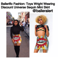 Memes, Mardi Gras, and 🤖: Ballerific Fashion: Toya Wright Wearing  Discount Universe Sequin Mini Skirt  @balleralert BallerificFashion: ToyaWright Wearing DiscountUniverse Sequin Mini Skirt - blogged by- @peachkyss ⠀⠀⠀⠀⠀⠀⠀ ⠀⠀⠀⠀⠀⠀⠀ Toya Wright was spotted out in New Orleans filming a Mardi Gras special. During the filming, she wore Discount Universe's 'Mouth and Braces' Mini Skirt. The skirt was paired with a black high neck top and black thigh high boots. ⠀⠀⠀⠀⠀⠀⠀ ⠀⠀⠀⠀⠀⠀⠀ The $199 Mouth and Braces Skirt features full sequined embellishment of a DU original Mouth with Braces design on a comfortable stretch rayon fabric. The sequins on the skirt are completely hand-sequined with iridescent and metallic designs. ⠀⠀⠀⠀⠀⠀⠀ ⠀⠀⠀⠀⠀⠀⠀ I love how the sequin skirt truly made a statement with the solids. The skirt is very flashy, so need to over do it. Definitely a hit! ⠀⠀⠀⠀⠀⠀⠀ ⠀⠀⠀⠀⠀⠀⠀ Are you feeling Toya Wright's look?