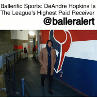 Memes, Money, and Sports: Ballerific Sports: DeAndre Hopkins ls  The League's Highest Paid Receiver  @balleralert Ballerific Sports: DeAndre Hopkins Is The League's Highest Paid Receiver- blogged by @niksofly ⠀⠀⠀⠀⠀⠀⠀⠀⠀⠀⠀⠀⠀⠀⠀⠀⠀⠀⠀⠀⠀⠀⠀⠀⠀⠀⠀⠀⠀⠀⠀⠀⠀⠀⠀⠀ The HoustonTexans' go-to man, DeAndreHopkins just became the NFL's highest paid receiver. Nukk signed a five-year deal with the Texans for a whopping $81M. Per league sources, $49M is guaranteed. This makes Hopkins a Texan into the 2022 season. ⠀⠀⠀⠀⠀⠀⠀⠀⠀⠀⠀⠀⠀⠀⠀⠀⠀⠀⠀⠀⠀⠀⠀⠀⠀⠀⠀⠀⠀⠀⠀⠀⠀⠀⠀⠀ Hopkins was in the final year of his rookie contract and was slated to make $7.195M. Last year, Hopkins held out for a new contract and it appears his brief absence was heard loud and clear. The AndreJohnson mentee has a contract in-line with his production. In his four years in the league, Nukk has averaged 1,000 plus yards per season (4,487 total) with 317 receptions and 23 touchdowns. ⠀⠀⠀⠀⠀⠀⠀⠀⠀⠀⠀⠀⠀⠀⠀⠀⠀⠀⠀⠀⠀⠀⠀⠀⠀⠀⠀⠀⠀⠀⠀⠀⠀⠀⠀⠀ Hopkins is atop of the receivers market, beating Julio Jones and Demaryius Thomas who both garnered deals with $35M in guaranteed money.