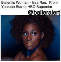 "Blessed, Children, and College: Ballerific Woman - Issa Rae, From  Youtube Star to HBO Superstar  @balleralert Ballerific Woman - Issa Rae, From Youtube Star to HBO Superstar - Blogged by @Climb_This_Hill ⠀⠀⠀⠀⠀⠀⠀ ⠀⠀⠀⠀⠀⠀⠀ In a perfect world, men and women would receive equal pay. African American women would be presented the same opportunities as their white counterparts. Rejection would be based on qualifications rather than race. ⠀⠀⠀⠀⠀⠀⠀ ⠀⠀⠀⠀⠀⠀⠀ Unfortunately, this world is far from perfect, however, there are people, more specifically women, who have dedicated their time, money and education to make a positive change. They've used their experiences and their encounters with injustices to fight and-or create more opportunities for their children and their children's children, in an effort to make the world a better place. ⠀⠀⠀⠀⠀⠀⠀ ⠀⠀⠀⠀⠀⠀⠀ They've put our pain and problems on their backs and created space for change, new opportunities for our brothers and sisters to excel and succeed in a world that is designed against us. This is BlackExcellence. These are BallerificWomen. ⠀⠀⠀⠀⠀⠀⠀ ⠀⠀⠀⠀⠀⠀⠀ One of those special individuals is Ms. Issa Rae. ⠀⠀⠀⠀⠀⠀⠀ ⠀⠀⠀⠀⠀⠀⠀ Best known for her hit HBO series, ""Insecure,"" after making her break with her hit Youtube series, ""Awkward Black Girl,"" Issa has blessed us with over 20 visual projects, which she either produced, starred in, or wrote. ⠀⠀⠀⠀⠀⠀⠀ ⠀⠀⠀⠀⠀⠀⠀ Her YouTube channel has captured over 260,000 subscribers and 20 million views and counting. ⠀⠀⠀⠀⠀⠀⠀ ⠀⠀⠀⠀⠀⠀⠀ Proving not only to be a strong force and inspiration for women in general, Ms. Issa Rae, is a proven example that black women can be bosses too....but we already knew that! ⠀⠀⠀⠀⠀⠀⠀ ⠀⠀⠀⠀⠀⠀⠀ She takes pride in being an actress, writer, director, producer and web series creator. She has earned her college degree in African American studies and has studied at some of the country's most famed acting academies. ⠀⠀⠀⠀⠀⠀⠀ ⠀⠀⠀⠀⠀⠀⠀ Issa Rae has been featured in Forbes annual, ""30 Under 30,"" list, Essence Magazine, Rolling Stone, and Vanity Fair, just to name a few. ⠀⠀⠀⠀⠀⠀⠀ ⠀⠀⠀⠀⠀⠀⠀ With so much under her belt, and still so young, we're pleased to know that Ms. Issa Rae will be blessing us with her talent for many years to come."
