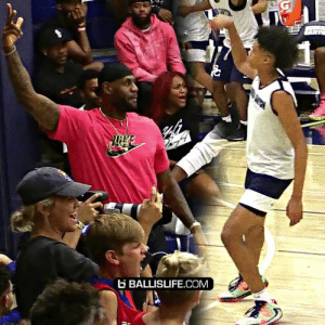 LeBron & D-Wade couldn't contain their excitement today in Sierra Canyon's BIG win against Mike Bibby's Hillcrest. https://t.co/yhzWmzIoZc: BALLISLIFE.COM LeBron & D-Wade couldn't contain their excitement today in Sierra Canyon's BIG win against Mike Bibby's Hillcrest. https://t.co/yhzWmzIoZc