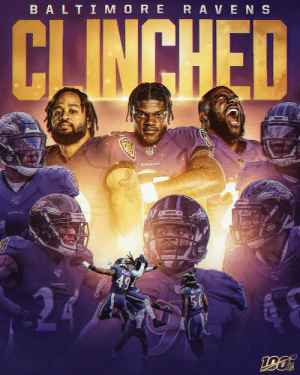 The @Ravens lock up their spot in the playoffs! 😈 #RavensFlock https://t.co/tU3y341jmq: BALTI MORE RAVENS  CJINCHED  RLAVE  RAVENS  RAVENS  494  RAVENS  WILLANS  RAVENS  56  RAVE The @Ravens lock up their spot in the playoffs! 😈 #RavensFlock https://t.co/tU3y341jmq