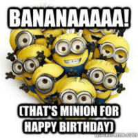 Happy: BANANAAAAA!  THATS MINION FOR  HAPPY BIRTHDAY)
