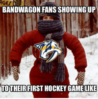 You might laugh but I've legit seen people bundle up like this cause they think it's freezing in the arena LOL: BANDWAGON FANS SHOWINGUP  nhl ref logic  TO THEIR  FIRST HOCKEY GAMELIKE You might laugh but I've legit seen people bundle up like this cause they think it's freezing in the arena LOL