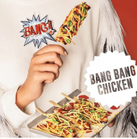 Add a BANG to your meal from Crepaway with these bang bang chicken lollipops! CpwNewMenu: BANG!  BANG BANG  CHICKEN Add a BANG to your meal from Crepaway with these bang bang chicken lollipops! CpwNewMenu