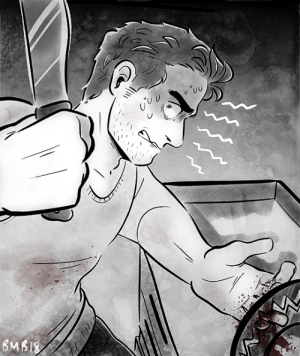 The Worst, Tumblr, and Blog: banhmiboy:goretober: chopped | hands down, one of the worst situations to be in