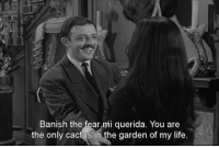 Family, Life, and Fear: Banish the fear mi querida. You are  the only cactus in the garden of my life The Addams Family