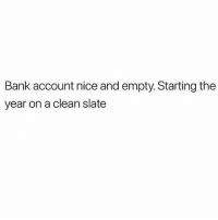 Namaste 🙏🏻: Bank account nice and empty. Starting the  year on a clean slate Namaste 🙏🏻