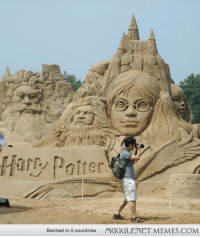 "Harry Potter, Memes, and Http: Banned in 0 countries  MUGGLENET MEMES.COM <p>Harry Potter sand castle <a href=""http://ift.tt/1rW0I0M"">http://ift.tt/1rW0I0M</a></p>"