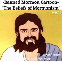 "-Banned Mormon Cartoon-  ""The Beliefs of Mormonism""  Part 3  @PapaTututyru  ms.com To see the other 5 parts go to.... Via @PapaTututyru Well I'll be damned.... THIS....is HOW I became to be black up in this bitch?? 😂😂😂 Called white people ""white and delightsome""....😐😐😐 Religions are prehistoric comedy pieces dawg lol that nigga hey zeus was a whole hoe in the beginning of this story 😂😂😂 But peep how they turned into them demons though.... All it took was for them to frizzy their hair, change their eyebrows and make them smile funny.... I'm hollin! 😂😂😂 Part 3 HendrixBrown Melanin BlackPower magic BlackMagic Africa African mormon mormons Magick elohim spiritual spirituality cartoon cartoons devil BlackPeople spirit occult Satan Voodoo Lucifer jesuschrist mormonism God Vodou jesus church christian gods"