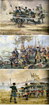 Target, Tumblr, and Blog: bantarleton:  Prussian infantry and artillery of the Seven Years War byGünter Dorn.