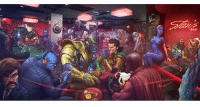 Look who's serving up all the drinks at this bar! What other fun stuff do you spot? 🍻 (Marvel Villains by PatrickBrown via patrickbrown.deviantart.com) marvel stanlee villains thanos loki ultron mystique: BAR Look who's serving up all the drinks at this bar! What other fun stuff do you spot? 🍻 (Marvel Villains by PatrickBrown via patrickbrown.deviantart.com) marvel stanlee villains thanos loki ultron mystique