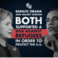 Share this to help shine a light on the hypocrisy of the media! In 2011, President Obama banned visa applicants from Iraq for 6 months, but the media was silent.: BARACK OBAMA  AND HILLARY CLINTON  BOTH  SUPPORTED A  BAN AGAINST  REFUGEES  IN ORDER TO  PROTECT THE U.S. Share this to help shine a light on the hypocrisy of the media! In 2011, President Obama banned visa applicants from Iraq for 6 months, but the media was silent.