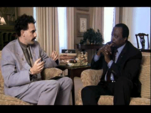 Barack Obama being interviewed by David Letterman in Late Show With David Letterman. 2018 January. Colorized.: Barack Obama being interviewed by David Letterman in Late Show With David Letterman. 2018 January. Colorized.