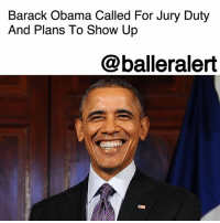 "Barack Obama Called For Jury Duty And Plans To Show Up - blogged by @MsJennyb ⠀⠀⠀⠀⠀⠀⠀ ⠀⠀⠀⠀⠀⠀⠀ Just 9 months after leaving office, former President BarackObama has been summoned for jury duty in Illinois. ⠀⠀⠀⠀⠀⠀⠀ ⠀⠀⠀⠀⠀⠀⠀ While the former First Family resides in D.C., Obama also owns a home in Chicago, which allows him fulfill his public duty in the city. Although many active citizens come up with excuses to skip the duty, the former president is taking a different route. ⠀⠀⠀⠀⠀⠀⠀ ⠀⠀⠀⠀⠀⠀⠀ ""He made it crystal-clear to me through his representative that he would carry out his public duty as a citizen and resident of this community,"" Cook County Chief Judge Timothy Evans said, according to The Chicago Tribune. ""Obviously, we will make certain that he has all the accoutrements that accompany a former president. His safety will be uppermost in our minds."" ⠀⠀⠀⠀⠀⠀⠀ ⠀⠀⠀⠀⠀⠀⠀ According to reports, this not the first time a former president has been called for jury duty, and actually showed up. Both Bill Clinton and George W. Bush appeared for jury selection after their time in office. However, if chosen, reports say he will not be the first high-profile person to be selected either. Back in 2004, OprahWinfrey sat on a jury for a murder trial. ⠀⠀⠀⠀⠀⠀⠀ ⠀⠀⠀⠀⠀⠀⠀ Obama is scheduled to appear for duty next month in Cook County.: Barack Obama Called For Jury Duty  And Plans To Show Up  @balleralert Barack Obama Called For Jury Duty And Plans To Show Up - blogged by @MsJennyb ⠀⠀⠀⠀⠀⠀⠀ ⠀⠀⠀⠀⠀⠀⠀ Just 9 months after leaving office, former President BarackObama has been summoned for jury duty in Illinois. ⠀⠀⠀⠀⠀⠀⠀ ⠀⠀⠀⠀⠀⠀⠀ While the former First Family resides in D.C., Obama also owns a home in Chicago, which allows him fulfill his public duty in the city. Although many active citizens come up with excuses to skip the duty, the former president is taking a different route. ⠀⠀⠀⠀⠀⠀⠀ ⠀⠀⠀⠀⠀⠀⠀ ""He made it crystal-clear to me through his representative that he would carry out his public duty as a citizen and resident of this community,"" Cook County Chief Judge Timothy Evans said, according to The Chicago Tribune. ""Obviously, we will make certain that he has all the accoutrements that accompany a former president. His safety will be uppermost in our minds."" ⠀⠀⠀⠀⠀⠀⠀ ⠀⠀⠀⠀⠀⠀⠀ According to reports, this not the first time a former president has been called for jury duty, and actually showed up. Both Bill Clinton and George W. Bush appeared for jury selection after their time in office. However, if chosen, reports say he will not be the first high-profile person to be selected either. Back in 2004, OprahWinfrey sat on a jury for a murder trial. ⠀⠀⠀⠀⠀⠀⠀ ⠀⠀⠀⠀⠀⠀⠀ Obama is scheduled to appear for duty next month in Cook County."