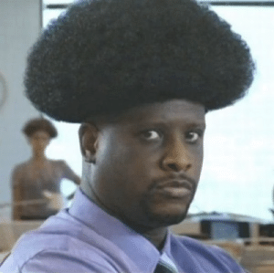 Barber, Fam, and Say No More: Barber: what do you want? Him: you ever seen a nuclear explosion? barber: say no more fam