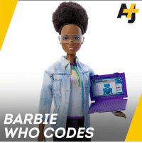 Barbie, Memes, and Laptop: BARBIE  WHO CODES Meet Silicon Valley Barbie. She codes, she builds robots, and she comes with a laptop.