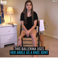 Dank, 🤖, and Recovery: BARCROFT  THIS BALLERINA USES  HER ANKLE AS A KNEE JOINT  UNILAD This ballerina was diagnosed with cancer at just 9-years-old resulting in the loss of her leg... Her recovery story is amazing 👏👏