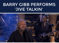 """Target, Http, and Strong: BARRY GIBB PERFORMS  JIVE TALKIN   <p><strong>Barry Gibb: Jive Talkin&rsquo;</strong></p> <p>The legendary Barry Gibb <a href=""""http://www.nbc.com/the-tonight-show/segments/6431"""" target=""""_blank"""">performs &ldquo;Jive Talkin&rsquo;&rdquo;</a> with The Roots!</p>"""