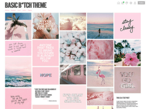 stylizedthemes: Basic B*tch Theme Features: Responsive design [up to 5 columns] Simple header with title and links [no description] Choose your own header font (alternate gothic) and body font (helvetica) Choose your own background color, text color, link color, and more  Four custom links and optional archive and random links Optional infinite scrolling ()=settings shown in preview Theme preview | Theme code For more themes go to:stylizedthemes.tumblr.com & adorablethemes.com *please reblog or like this post if you use this theme* : BASIC B*TCH THEME  Follow  Achando Ln1 u  NEVER  APOLOGIZE  FOR HOW  YOU FEEL  you sat dowwn  re o me onk  hink Foeapt kou  to beathe  ANYONE  THAT TRIES  YOU DOWN  IS ALREADY  BELOW  YOU  9OU  NOPE  GIRL  PUT YOU FIRST AND YOU ADORED IT  SET FIRES TO MY FOREST  AND YOU LET IT BURN  SANG OFF KEY IN NY CHORUS  CAUSE IT WASNT YOURS  IT'S OKAY  TO GO  SLOWLY  holy moly  me ch my  you're the apple  of my eye  THIS IS A TEXT POST  -Selena Gome  opun dolor st amet, coneectet  adpacing et Cras tncdut  commodo c massa 1onorha  ac ctus ooi justo tacilss nune  Morti ut mehs et arou mols mos Na  qpumtea stylizedthemes: Basic B*tch Theme Features: Responsive design [up to 5 columns] Simple header with title and links [no description] Choose your own header font (alternate gothic) and body font (helvetica) Choose your own background color, text color, link color, and more  Four custom links and optional archive and random links Optional infinite scrolling ()=settings shown in preview Theme preview | Theme code For more themes go to:stylizedthemes.tumblr.com & adorablethemes.com *please reblog or like this post if you use this theme*