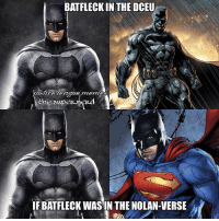 Whenever y'all read Batman's dialogue in a comic, which media Batman (movies, shows) voice do you read it in? I personally read dialogue in Kevin Conroy's voice. All the animated films, the animated series, and Arkham games have gotten me used to it. -Shazam⚡️: BATFLECKIN THE DCEU  ytietoa league mem  the super n  IF BATFLECK WAS IN THE NOLAN-VERSE Whenever y'all read Batman's dialogue in a comic, which media Batman (movies, shows) voice do you read it in? I personally read dialogue in Kevin Conroy's voice. All the animated films, the animated series, and Arkham games have gotten me used to it. -Shazam⚡️