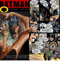 """What's In That Utility Belt: A History of Batman Gadgets"" - Electromagnets: As we hit the halfway mark in our retrospect discussing 25 of the Batman's most well known and most obscure tools used in his war on crime, we're learning even more that the Dark Knight prepares for not only obstacle but also any threat to someone discovering his secret identity. Besides wearing his famous cowl, writer Ed Brubaker added another piece of tech to the Caped Crusader's gadgets in the tale ""The Dark Knight Project"", originally published in Batman (Vol 1) 584 from December 2000 (panel presented by Scott McDaniel, Roberta Tewes and Karl Story). When a film crew begins working on their documentary about whether or not Batman is actually real or is an urban legend in Gotham City and they actually catch him on camera, the Dark Knight knows he has to protect his identity. Batman tells them they can't release the footage because he wouldn't be as frightening to the criminals in Gotham if there wasn't mystery around his existence. To assure he remains a myth, Batman pulls out a ""powerful electromagnet"" that erased all of the footage on the tape, leaving the two film makers to figure out the next subject of their film (which will be Green Lantern). Now this electromagnet is a common tool inside of Batman's utility belt, just making sure he can remain the urban legend of the shadow of the Bat. ✌🏼💙🦇📚: BATMA  GOTHAM AND RoRsG  BRUBA K E R .MC DANIE I  I GUESS YOU  STAY A  BUT WHAT  NAVE CONE IFWE  WOULO HAVE REGRETFULLY  INFORMEDOABOUT THIS  POWERFUL ELECTROMAGNET THAT  ACCIDENTALLY ERASED YOUR  TAPE  CH...NICE MOVE  CHOOL FLM SOMETHING  ELSE. I GO BACK THROLAH  HIS DOOR, BACK TO MY  5o po YOU STILL  WANT TO DO THE  MOME ABOUT  SENTINELE  NOT  SENTINE  GREEN  LANTERN  OKAY, WELL  HOW ABOUT TMOS  FOR OUR OPENINO  WE RE ON AN  AIRPLANE,AND  ELECTR MAGNET  @HISTORYOFTHEBATMAN ""What's In That Utility Belt: A History of Batman Gadgets"" - Electromagnets: As we hit the halfway mark in our retrospect discussing 25 of the Batman's most well known and most obscure tools used in his war on crime, we're learning even more that the Dark Knight prepares for not only obstacle but also any threat to someone discovering his secret identity. Besides wearing his famous cowl, writer Ed Brubaker added another piece of tech to the Caped Crusader's gadgets in the tale ""The Dark Knight Project"", originally published in Batman (Vol 1) 584 from December 2000 (panel presented by Scott McDaniel, Roberta Tewes and Karl Story). When a film crew begins working on their documentary about whether or not Batman is actually real or is an urban legend in Gotham City and they actually catch him on camera, the Dark Knight knows he has to protect his identity. Batman tells them they can't release the footage because he wouldn't be as frightening to the criminals in Gotham if there wasn't mystery around his existence. To assure he remains a myth, Batman pulls out a ""powerful electromagnet"" that erased all of the footage on the tape, leaving the two film makers to figure out the next subject of their film (which will be Green Lantern). Now this electromagnet is a common tool inside of Batman's utility belt, just making sure he can remain the urban legend of the shadow of the Bat. ✌🏼💙🦇📚"