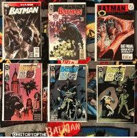 "Evening Gothamites and happy New Comic Book Day! Today I spent some time inside @GeoffreysComics in Torrance, CA (SWIPE to see all my pics!) and got some rad comics including these Batman back issues: Grant Morrison's Batman (Vol 1) 681 from 2008 (beautiful cover by @TheAlexRossArt), the concluding chapter in his arc ""Batman R.I.P"", Doug Moench's Batman (Vol 1) 516 from March 1995 with cover and interior art by Kelley Jones, this issue being the 2nd in a long ""Batman"" publication run with the creative team of Moench, Jones and John Beatty, Ed Brubaker and Scott McDaniel's Batman (Vol 1) 584 from December 2000, an issue we discussed today in our session ""What's In That Utility Belt: A History of Batman Gadgets"" (2 posts back), and the 3 issue arc of Peter Milligan's series ""Dark Knight, Dark City"" originally published in Batman (Vol 1) 452-454 from August - September of 1990! If you're in the area, check out @GeoffreysComics, they have a great selection of new comics, trades, back issues and collectibles encompassed in a bat-tastic store! Thanks for following and we'll have more History of the Batman soon! ✌🏼💛🦇📚: BATMAN  BATMAN  BATMAN  BAT-MAN:  URBAN MYTH  OR REALITY?  BATMAN  DARK  DARK  rilgh  鬪  USAN  AIVE  DENSAE  @HISTORYOFTHE Evening Gothamites and happy New Comic Book Day! Today I spent some time inside @GeoffreysComics in Torrance, CA (SWIPE to see all my pics!) and got some rad comics including these Batman back issues: Grant Morrison's Batman (Vol 1) 681 from 2008 (beautiful cover by @TheAlexRossArt), the concluding chapter in his arc ""Batman R.I.P"", Doug Moench's Batman (Vol 1) 516 from March 1995 with cover and interior art by Kelley Jones, this issue being the 2nd in a long ""Batman"" publication run with the creative team of Moench, Jones and John Beatty, Ed Brubaker and Scott McDaniel's Batman (Vol 1) 584 from December 2000, an issue we discussed today in our session ""What's In That Utility Belt: A History of Batman Gadgets"" (2 posts back), and the 3 issue arc of Peter Milligan's series ""Dark Knight, Dark City"" originally published in Batman (Vol 1) 452-454 from August - September of 1990! If you're in the area, check out @GeoffreysComics, they have a great selection of new comics, trades, back issues and collectibles encompassed in a bat-tastic store! Thanks for following and we'll have more History of the Batman soon! ✌🏼💛🦇📚"