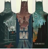 "Memes, Pop, and Roger: BATMAN  BEGINS  THE DARK KNIGHT  THE DARK KNIGHT RISES Good afternoon Gothamites and I hope you're all having a magnificent Monday! Today we'll continue ""50 Tales for 50 Years: A Celebration of Barbara Gordon""! To kick off this week, here are fan art posters for Christopher Nolan's The Dark Knight Trilogy (2005's 'Batman Begins', 2008's 'The Dark Knight' and 2012's 'The Dark Knight Rises') by artist Michael Rogers! Please see more of their pop culture works at his website at Etsy.com-people-bigbadrobot! Thanks for following and we'll have more History of the Batman soon, so stay tuned! ✌🏼️💛💙📽🎨"