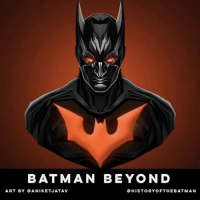 """Batman, Facebook, and Friday: BATMAN BEYOND  ART BY ANI KETJATAV  OHISTORY OFTHE BATMAN Good Knight Gothamites! Tomorrow we'll have more of our history session """"The ABC's of The Joker"""" and another round of Nerdy Tats Friday! I leave you tonight with an art series by @aniketjatav who created a Dark Knight 30 day series illustrating a different Batman every day! Which Caped Crusader suit is your favorite? Be sure to check out @aniketjatav's entire gallery here on IG! As always, thanks for following here on Instagram and on Twitter (HistoftheBatman), Tumblr, Facebook and subscribing on YouTube (HistoryoftheBatman) and to my podcast on iTunes (itun.es-us-DOPM7.c), it is greatly appreciate! Have a great night and we will have more History of the Batman tomorrow. Remember Gothamites, it's all about Peace, Love and Batman! ✌🏼💙🦇🎨"""