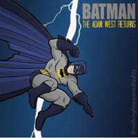 """Good Knight Gothamites and I hope you all had a Super Saturday! Tomorrow we'll continue """"Good Night, Sweet Knight: Remembering Adam West""""! Here is a Batman '66 - Batman: The Dark Knight Returns mash-up artwork by illustrator Ed Harrington @NothingHappenedToday! Check out more of @NothingHappenedToday's work on their website at EdHarringtonIllustration.com!As always, thanks for following and all of the constant support on and off of Instagram, it is greatly appreciated! We'll have more History of the Batman tomorrow so stay tuned and remember, it's all about Peace, Love and Batman! ✌🏼💙🦇🎨🙏🏼: BATMAN  THE ADAM WEST RETURNS Good Knight Gothamites and I hope you all had a Super Saturday! Tomorrow we'll continue """"Good Night, Sweet Knight: Remembering Adam West""""! Here is a Batman '66 - Batman: The Dark Knight Returns mash-up artwork by illustrator Ed Harrington @NothingHappenedToday! Check out more of @NothingHappenedToday's work on their website at EdHarringtonIllustration.com!As always, thanks for following and all of the constant support on and off of Instagram, it is greatly appreciated! We'll have more History of the Batman tomorrow so stay tuned and remember, it's all about Peace, Love and Batman! ✌🏼💙🦇🎨🙏🏼"""