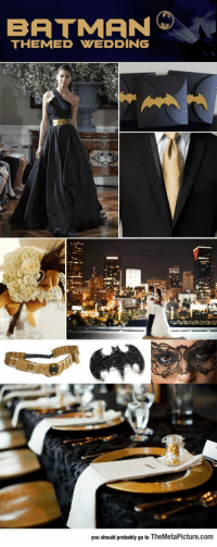 Batman, Tumblr, and Blog: BATMAN  THEMED WEDDING  you should probably go to TheMetaPicture.com epicjohndoe:  Batman Themed Wedding