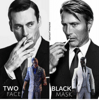 Memes, Two-Face, and 🤖: @BATMAN-UPDATES  OU  ySVW  XOV78  OML From @batman_updates - Fancast: Jon Hamm as Two Face. And Mads Mikkelsen as Black Mask! - Thoughts?