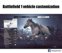 Can't wait!: Battlefield 1 vehicle customization  PETR  GELDING HORSE  STRAW HAT  Videogamemes Can't wait!