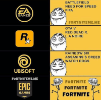 BATTLEFIELD  NEED FOR SPEED  FIFA  EA  GAMES  FORTNITEME.ME  GTA V  RED DEAD R.  L.A NOIRE  R.  RAINBOW SiX  ASSASINS'S CREED  WATCH DOGS  UBISOFT  FORTNITEME.ME  EPIC  FORTNITE  FORTNITE  GAMES