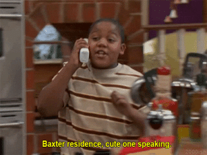Cute, Baxter, and One: Baxter residence, cute one speaking