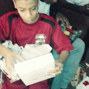 Beautiful, Christmas, and Head: bayarealivin415408:  bayarealivin415408:My son Opening the thing he wanted most. Merry Christmas. I hope everybody has a good one, if not keep ya head up. Shit gets better.  Merry Christmas to all my beautiful followers.