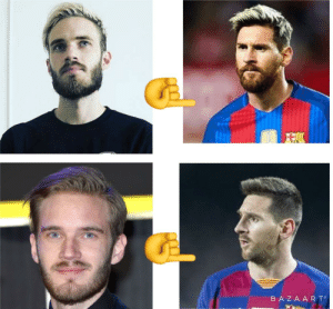 Who is copying Who (Pewds his name is Messi, a world class footballer with over 100mil followers): BAZA AR T Who is copying Who (Pewds his name is Messi, a world class footballer with over 100mil followers)