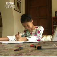 Being Alone, Love, and Memes: BB  BBC  NE Via: @bbcnews - 28 APR: Abandoned as a tiny, premature baby on the steps of a hospital in Cambodia, Tjili Grant Wetherill has cerebral palsy and is profoundly deaf. With the love and support of her adoptive parents, Tjili, who's now 16 and living in the UK, has overcome huge challenges. Doctors once thought she would struggle to sit, stand, walk or feed herself - let alone paint - but Tjili is now winning international recognition for her talent as an artist. Tjili DifferentlyAbled GiveItAGo Art Artist Painting Watercolour CerebralPalsy Disability BBCNews BBCShorts @Tjiligw @BBCNews @pmwhiphop