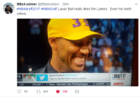 Philadelphia 76ers, Blackpeopletwitter, and Los Angeles Lakers: BBallJabber @BBallJabber 38m  #NBAdraft2017 #NBADraft Lavar Ball really likes the Lakers. Even his teeth  yellow  Jamal Crawford JCrossover  Triple b's. Big Baler Brand Lavar is a prophet  DRAFT 17  15  뀨CELTICS  ROUND 1 1.76ers- Markelle Fultz PG/Washington 2. LAKERS-Lon  19th 457 780 <p>Reppin' my town, when you see me you know everything (via /r/BlackPeopleTwitter)</p>