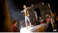 "The Doctor: Hello, Stonehenge! Who takes the Pandorica, takes the universe! But bad news, everyone, [jumps up from inside Stonehenge] 'cause guess who! Ha! Listen, you lot! You're all whizzing about; it's really very distracting. Could you all just stay still a minute, because I! AM! TALKING! [The ships stop instantly] Now, the question of the hour is, ""Who's got the Pandorica?"" Answer: I do. Next question: Who's coming to take it from me? [Pause] Come on! Look at me! No plan, no back-up, no weapons worth a damn! Oh, and something else, I don't have anything to lose! So, if you're sitting up there in your silly little spaceship with all your silly little guns, and you've got any plans on taking the Pandorica tonight, just remember who's standing in your way! Remember every black day I ever stopped you, and then, and then, do the smart thing: Let somebody else try first. [The battleships all retreat to a much higher orbit. To Rory] That should keep them squabbling for half an hour.: BBC  AMERICA The Doctor: Hello, Stonehenge! Who takes the Pandorica, takes the universe! But bad news, everyone, [jumps up from inside Stonehenge] 'cause guess who! Ha! Listen, you lot! You're all whizzing about; it's really very distracting. Could you all just stay still a minute, because I! AM! TALKING! [The ships stop instantly] Now, the question of the hour is, ""Who's got the Pandorica?"" Answer: I do. Next question: Who's coming to take it from me? [Pause] Come on! Look at me! No plan, no back-up, no weapons worth a damn! Oh, and something else, I don't have anything to lose! So, if you're sitting up there in your silly little spaceship with all your silly little guns, and you've got any plans on taking the Pandorica tonight, just remember who's standing in your way! Remember every black day I ever stopped you, and then, and then, do the smart thing: Let somebody else try first. [The battleships all retreat to a much higher orbit. To Rory] That should keep them squabbling for half an hour."