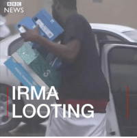 Looters caught on camera in Miami, hours after Hurricane Irma struck. People were filmed stealing things like shoes. Police have made several arrests. Miami was spared the brunt of the storm but was still battered by strong winds and flood water. irma florida miami police stayindoors: BBC  NEWS  0  IRMA  LOOTING Looters caught on camera in Miami, hours after Hurricane Irma struck. People were filmed stealing things like shoes. Police have made several arrests. Miami was spared the brunt of the storm but was still battered by strong winds and flood water. irma florida miami police stayindoors